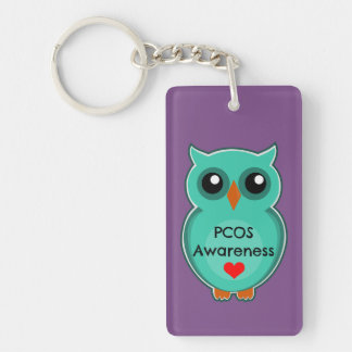 Porte-clés Porte - clé de hibou de conscience de PCOS