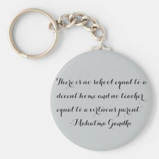 Porte-clés Porte - clé de Homeschool - citation de Gandhi