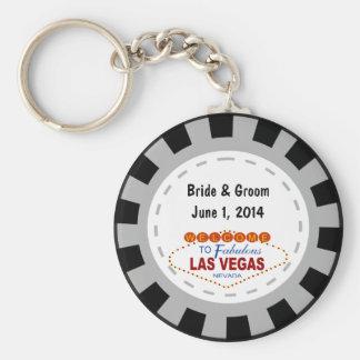Porte-clés Porte - clé de jeton de poker de Las Vegas