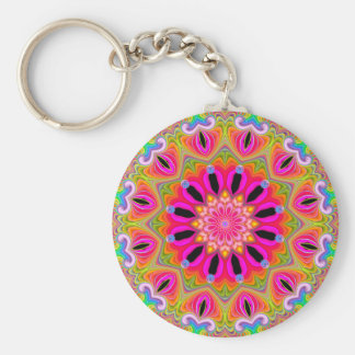Porte-clés Porte - clé de kaléidoscope de fractale