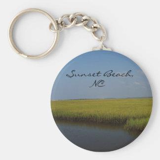 Porte-clés Porte - clé de la Caroline du Nord de plage de