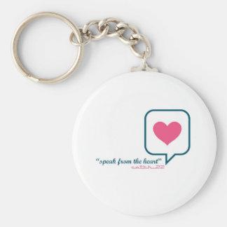 """Porte-clés Porte - clé """"de la parole de coeur"""""""