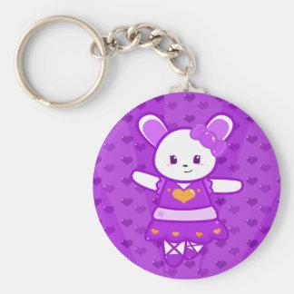 Porte-clés Porte - clé de lapin de ballerine