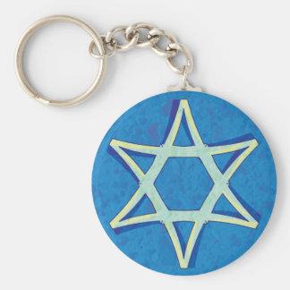 Porte-clés Porte - clé de l'étoile de David