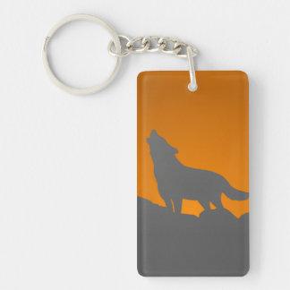 Porte-clés Porte - clé de loup d'hurlement