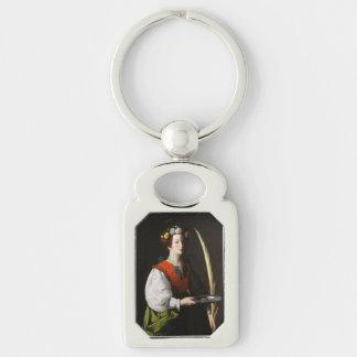 Porte-clés Porte - clé de Lucy de saint - patronesse des yeux