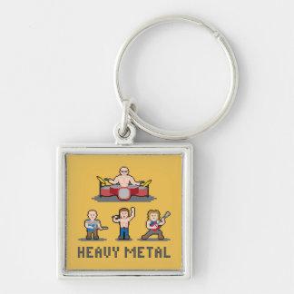 Porte-clés Porte - clé de métal lourd de pixel