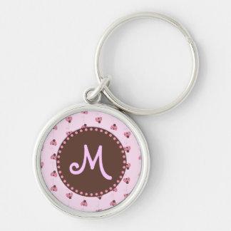 Porte-clés Porte - clé de monogramme de coccinelle