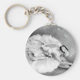 Porte-clés Porte - clé de mort de cygne de ballerine