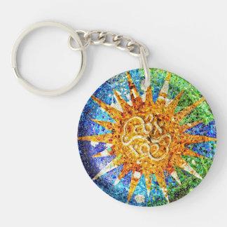 Porte-clés Porte - clé de mosaïques de Guell de parc