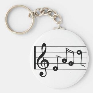 Porte-clés Porte - clé de musical de chanteur d'alto