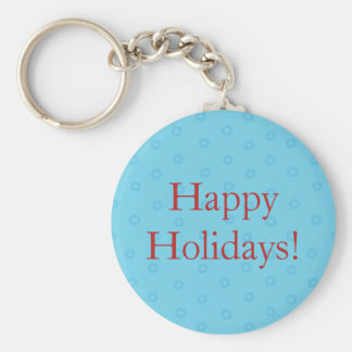 Porte-clés Porte - clé de Noël de bleu bonnes fêtes avec le