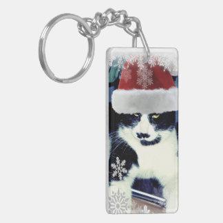 Porte-clés Porte - clé de Noël de chat de Père Noël