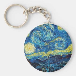 Porte-clés Porte - clé de nuit étoilée de Van Gogh