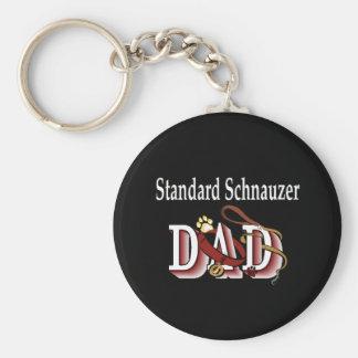 Porte-clés porte - clé de papa de schnauzer standard