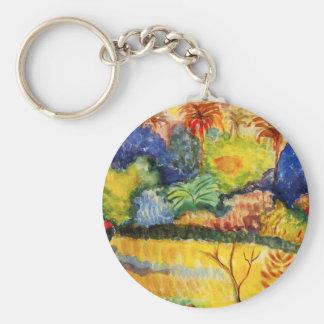 Porte-clés Porte - clé de paysage de Gauguin Tahitian