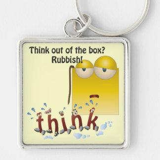 Porte-clés Porte - clé de penser--de-le-box de bande dessinée