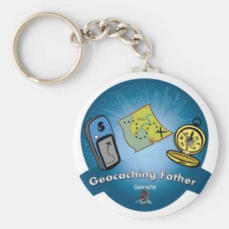 Porte-clés Porte - clé de père de Geocaching