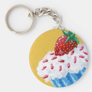 Porte-clés Porte - clé de petit gâteau de fraise