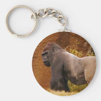 Porte-clés Porte - clé de photo de gorille de Silverback