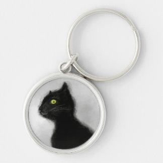 Porte-clés Porte - clé de prime de maître de chat noir