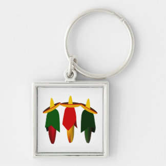 Porte-clés Porte - clé de prime de trois piments d'Amigo