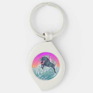 Porte-clés Porte - clé de remous de licorne d'océan