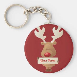 Porte-clés Porte - clé de renne de Noël