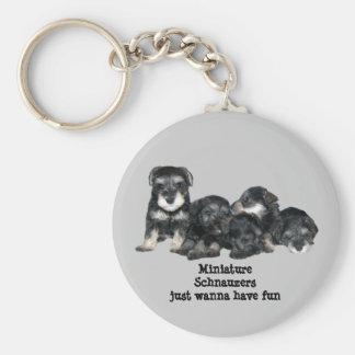 Porte-clés Porte - clé de Schnauzer miniature