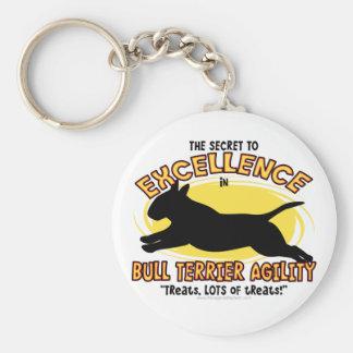 Porte-clés Porte - clé de secret de bull-terrier d'agilité