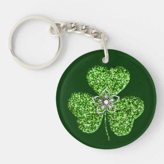 Porte-clés Porte - clé de shamrock et de fleur de parties