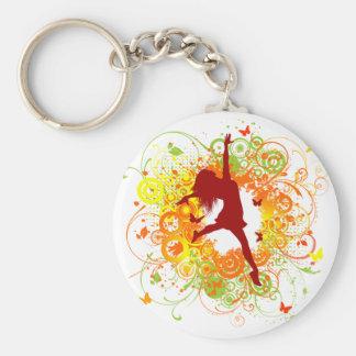 Porte-clés Porte - clé de silhouette de danseur