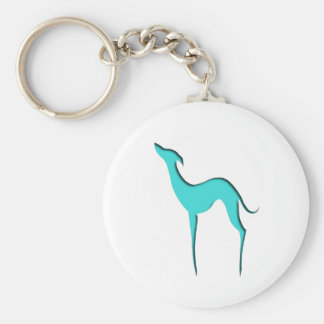 Porte-clés Porte - clé de silhouette de turquoise de