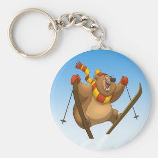 Porte-clés Porte - clé de ski d'ours