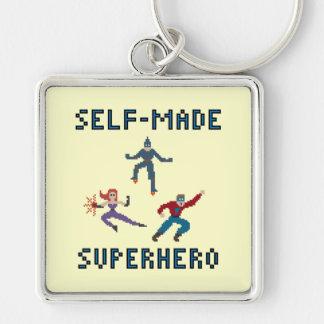 Porte-clés Porte - clé de super héros d'art de pixel