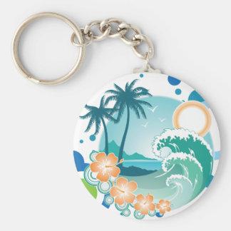 Porte-clés Porte - clé de surf d'île