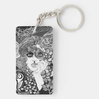 Porte-clés Porte - clé de tabagisme de femme
