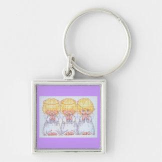 Porte-clés Porte - clé de trois anges de bébé