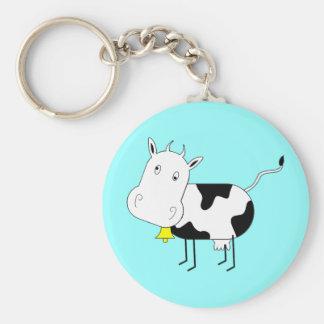 Porte-clés Porte - clé de vache à bande dessinée