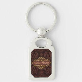 """Porte-clés Porte - clé de w/Brass """"de cuir de relief"""" de Faux"""
