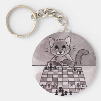 Porte-clés Porte - clé d'échecs de chat