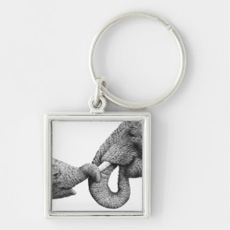 Porte-clés Porte - clé d'éléphant africain et de veau
