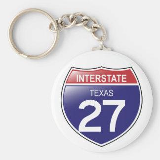 Porte-clés Porte - clé d'I-27 le Texas