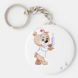 Porte-clés Porte - clé d'infirmière d'ours de nounours