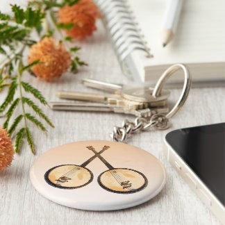 Porte-clés Porte - clé d'instruments de musique de banjo