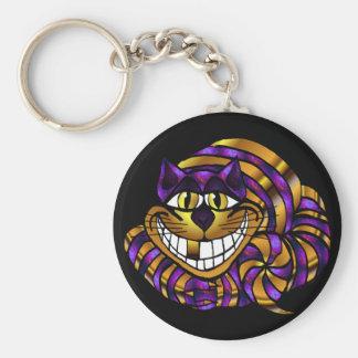Porte-clés Porte - clé d'or de chat de Cheshire