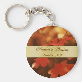 Porte-clés Porte - clé d'or de faveur de mariage de feuille