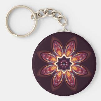 Porte-clés Porte - clé d'or de fractale de Lotus