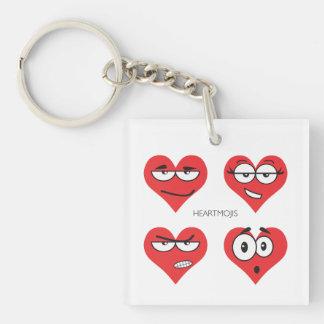 Porte-clés Porte - clé (double face) de carré de Heartmojis