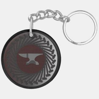 Porte-clés Porte - clé (double face) de cercle - ENCLUME et